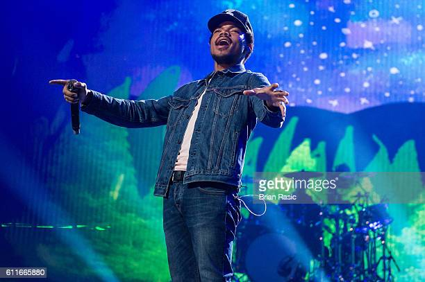 Chance The Rapper performs at the Apple Music Festival at The Roundhouse on September 30 2016 in London England