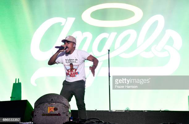 Chance The Rapper performs at the Surf Stage during 2017 Hangout Music Festival on May 21 2017 in Gulf Shores Alabama