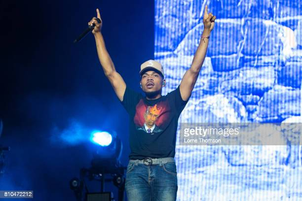 Chance The Rapper performs at Wireless Festival Day 1 at Finsbury Park on July 7 2017 in London England