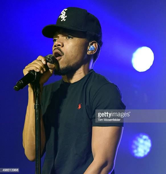 Chance the Rapper performs during his 'Family Matters Tour' at the Fox Theater on November 21 2015 in Oakland California