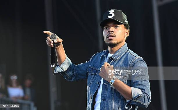 Chance the Rapper performs during the 2016 Outside Lands Music And Arts Festival at Golden Gate Park on August 7 2016 in San Francisco California