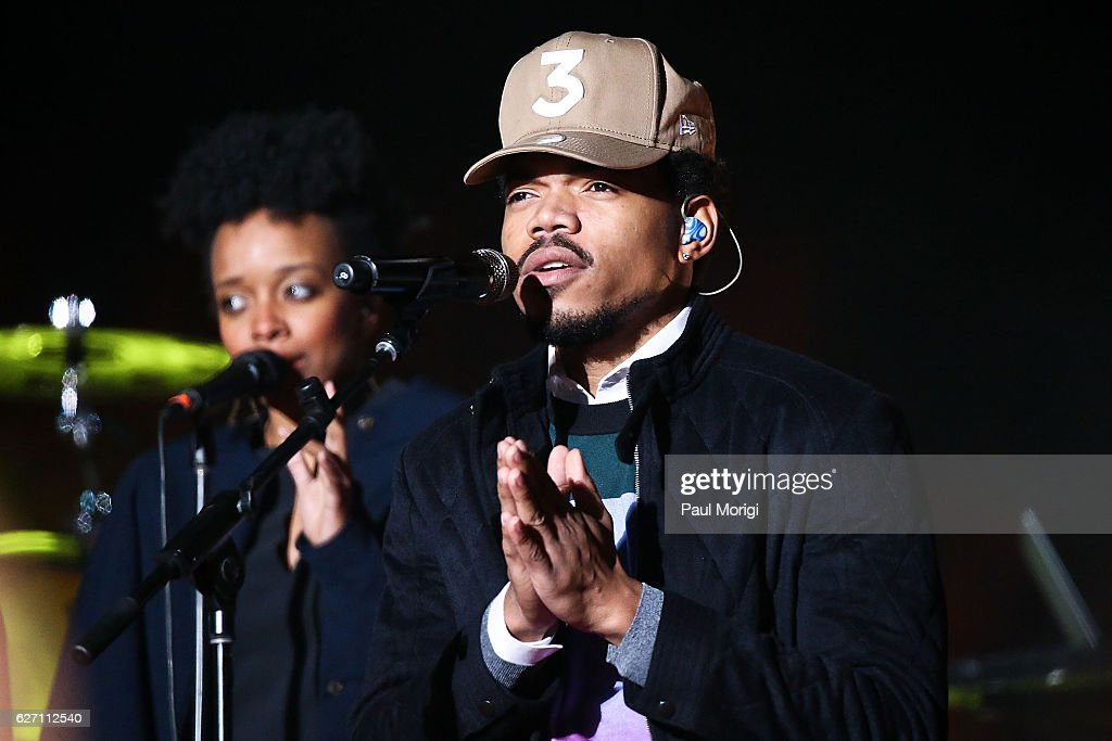 Chance the Rapper performs during the 94th Annual National Christmas Tree Lighting Ceremony on the Ellipse in President's Park on December 1, 2016 in Washington, DC.