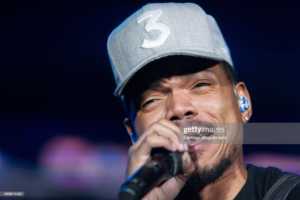 Chance The Rapper performs during the first day of Lollapalooza Buenos Aires 2018 at Hipodromo de San Isidro on March 16, 2018 in Buenos Aires, Argentina.