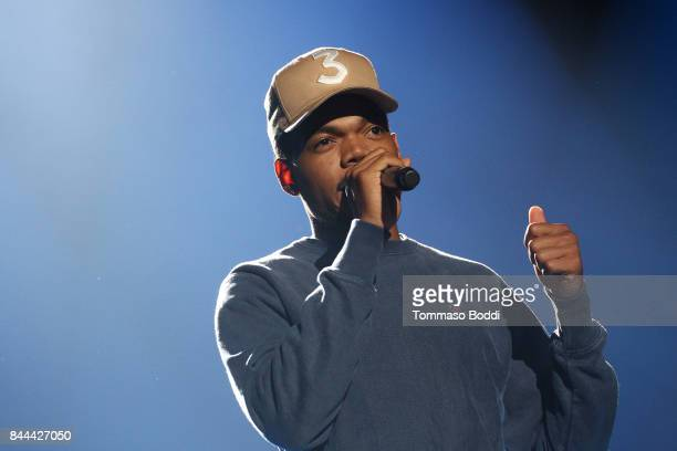 Chance the Rapper performs during XQ Super School Live presented by EIF at Barker Hangar on September 8 2017 in Santa California