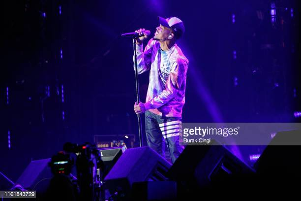 Chance the Rapper performs on stage during day 2 of Lovebox 2019 at Gunnersbury Park on July 13 2019 in London England