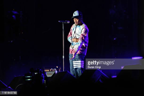Chance the Rapper performs on stage during day 2 of Lovebox 2019 at Gunnersbury Park on July 13, 2019 in London, England.