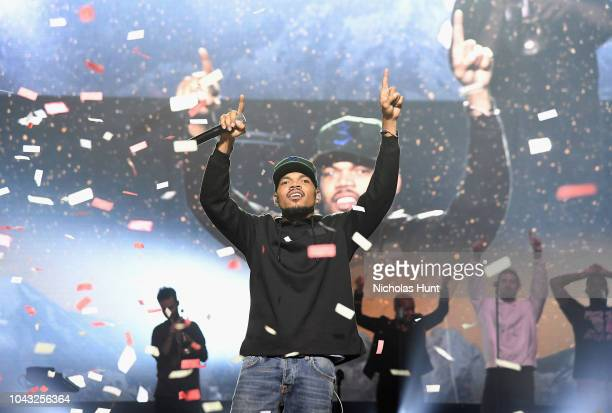 Chance The Rapper performs onstage during Chance The Rapper to Headline Spotify's RapCaviar Live In Brooklyn in Partnership with Live Nation Urban...