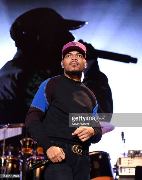 Chance The Rapper performs onstage during Mac Miller A Celebration Of Life Concert Benefiting The Launch Of The Mac Miller Circles Fund at The Greek...