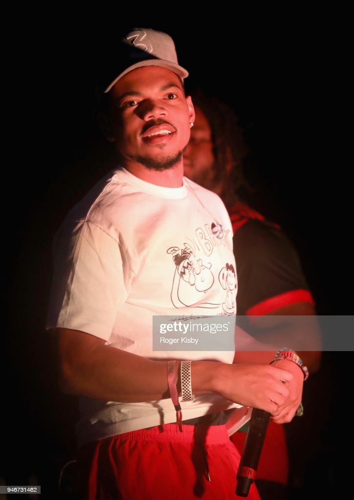 Chance The Rapper performs onstage during #REVOLVEfestival Day 2 on April 15, 2018 in La Quinta, California.