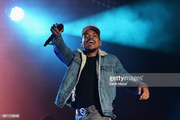 Chance the Rapper performs onstage during the 2017 Firefly Music Festival on June 17, 2017 in Dover, Delaware.