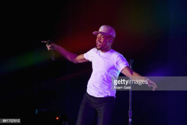Chance The Rapper performs onstage during the 2017 Governors Ball Music Festival Day 1 at Randall's Island on June 2 2017 in New York City