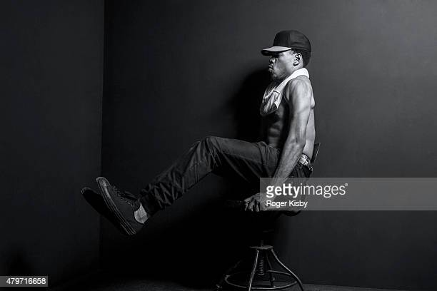Chance the Rapper poses for a portrait backstage at The FADER FORT Presented by Converse during SXSW on March 18 2015 in Austin Texas