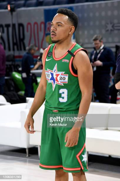 Chance the Rapper practices before the NBA All-Star Celebrity Game 2020 Presented By Ruffles at Wintrust Arena on February 14, 2020 in Chicago,...
