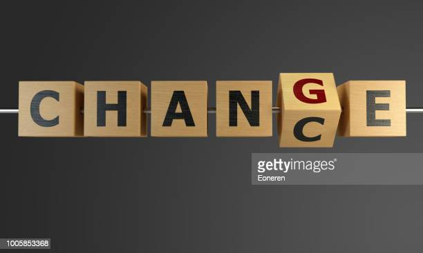 chance to change with cubes - change stock pictures, royalty-free photos & images