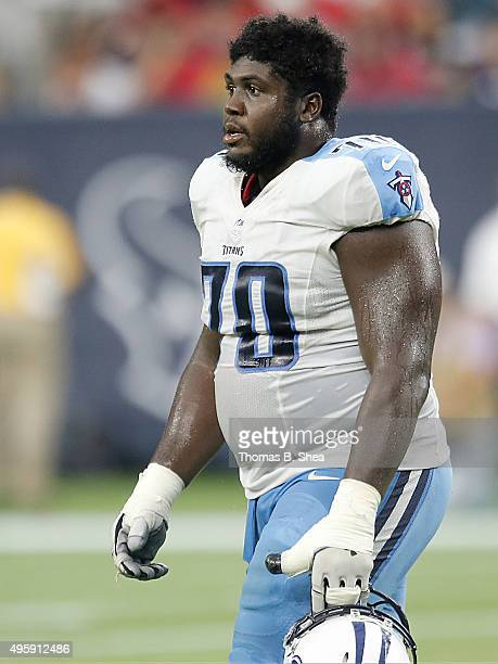Chance Warmack of the Tennessee Titans against the Houston Texans on November 1 2015 at NRG Stadium in Houston Texas Texans won 20 to 6