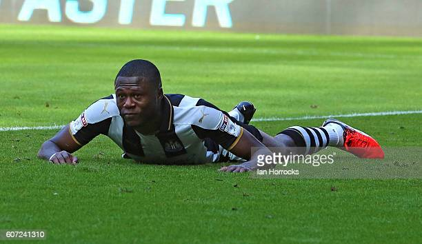 Chancel Mbemba of Newcastle after scoring an own goal the games first during the Sky Bet Championship match between Newcastle United and...