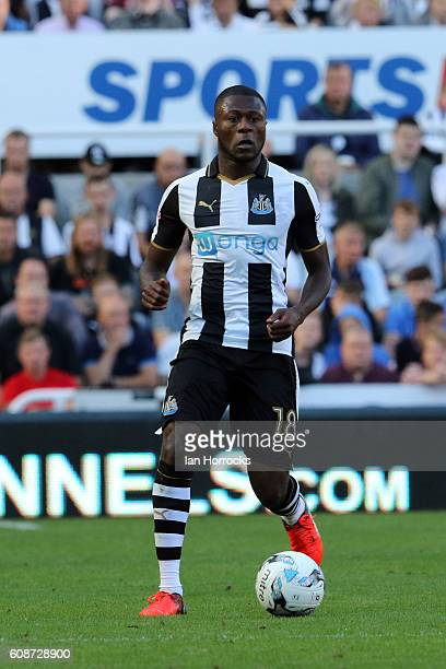 Chancel MBemba of Newcastle during the Sky Bet Championship match between Newcastle United and Wolverhampton Wanders at St James' Park on September...