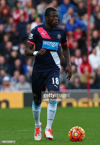 Chancel Mbemba of Newcastle in action during the Barclays Premier League match between Sunderland AFC and Newcastle United FC at the Stadium of Light...