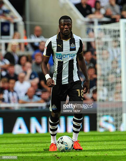Chancel Mbemba of Newcastle United controls the ball during the Sky Bet Championship match between Newcastle United and Huddersfield Town at StJames...