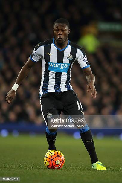 Chancel Mbemba of Newcastle United during the Barclays Premier League match between Everton and Newcastle United at Goodison Park on February 03 2016...