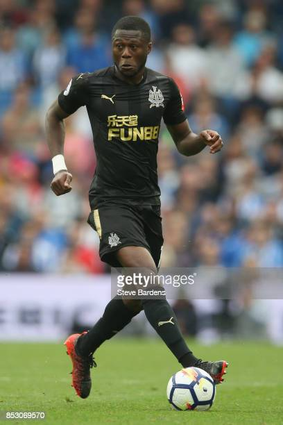 Chancel Mbemba of Newcastle United in action during the Premier League match between Brighton and Hove Albion and Newcastle United at Amex Stadium on...