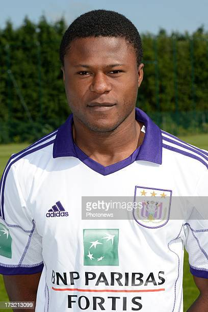 Chancel Mbemba pictured during the photocall session of RSC Anderlecht on July 10 2013 in Anderlecht Belgium
