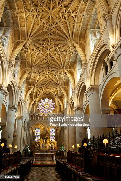 Chancel vault, by William Orchard, circa 1500, Christ Church Cathedral, Oxford, Oxfordshire, England, United Kingdom, Europe