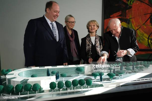 Chancellery Minister Helge Braun architect Charlotte Frank Federal Office for Civil Engineering and Regional Planning President Petra Wesseler look...