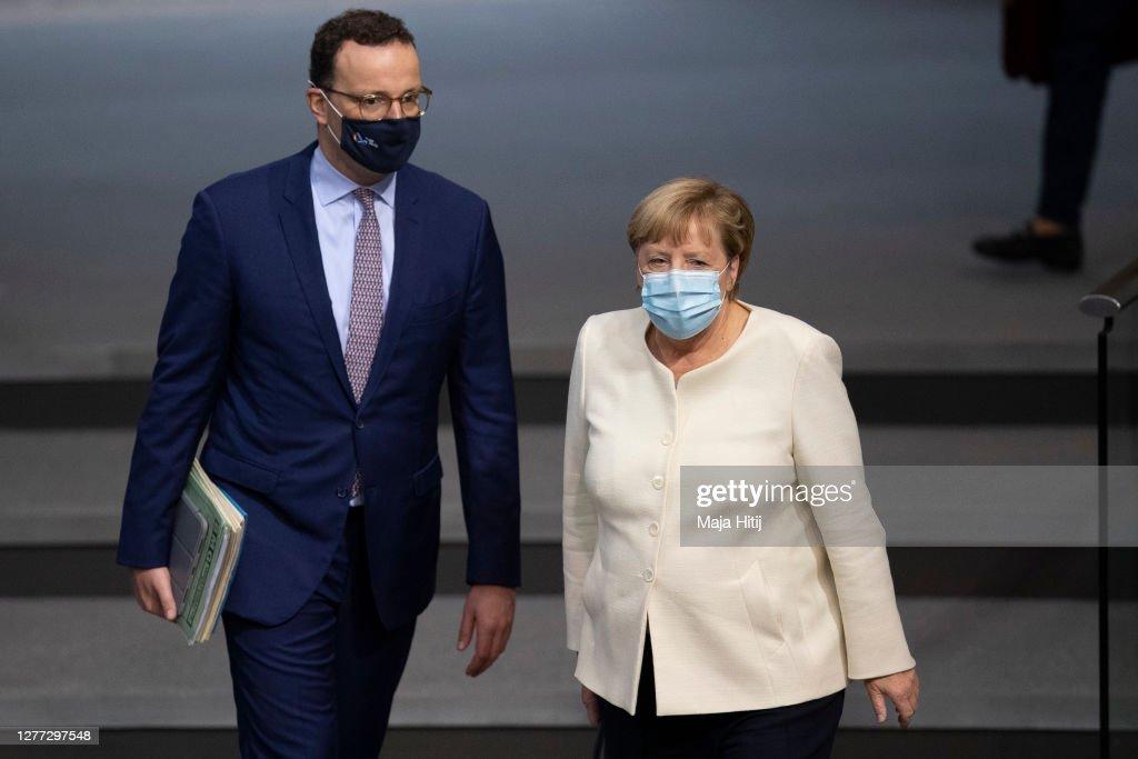 Bundestag Begins 2021 Federal Budget Debates During The Coronavirus Pandemic : Nachrichtenfoto