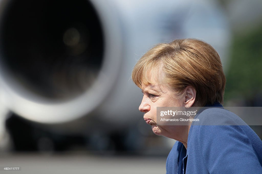 Chancellor Angela Merkel attends the ILA Berlin Air Show 2014 on May 20, 2014 in Schoenefeld near Berlin, Germany.
