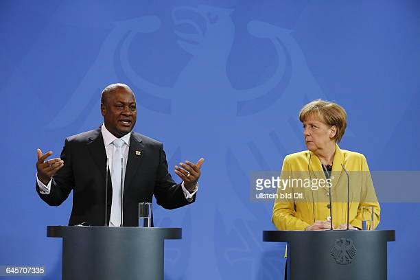 Chancellor Angela Merkel CDU occurs together with Ghana's President John Dramani Mahama who is currently Chairman of the West African Economic Union...