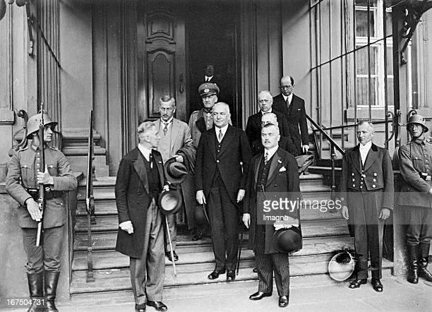 Chancellor Franz von Papen and members of the new national cabinet after the swearing by President Paul von Hindenburg in front of the Presidential...