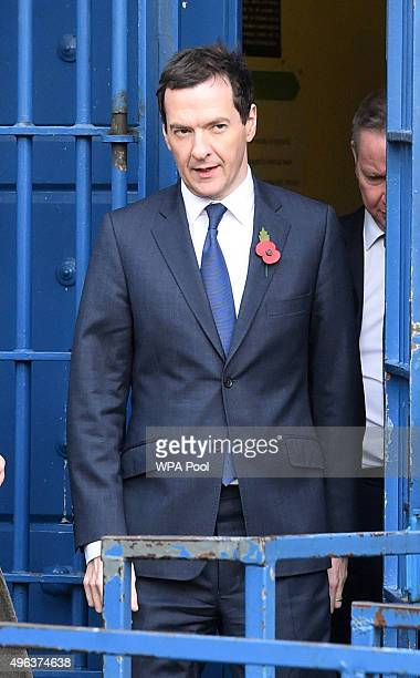 Chancellor George Osborne and Justice Secretary Michael Gove during a visit to Brixton Prison on November 09 2015 in London England The Government...