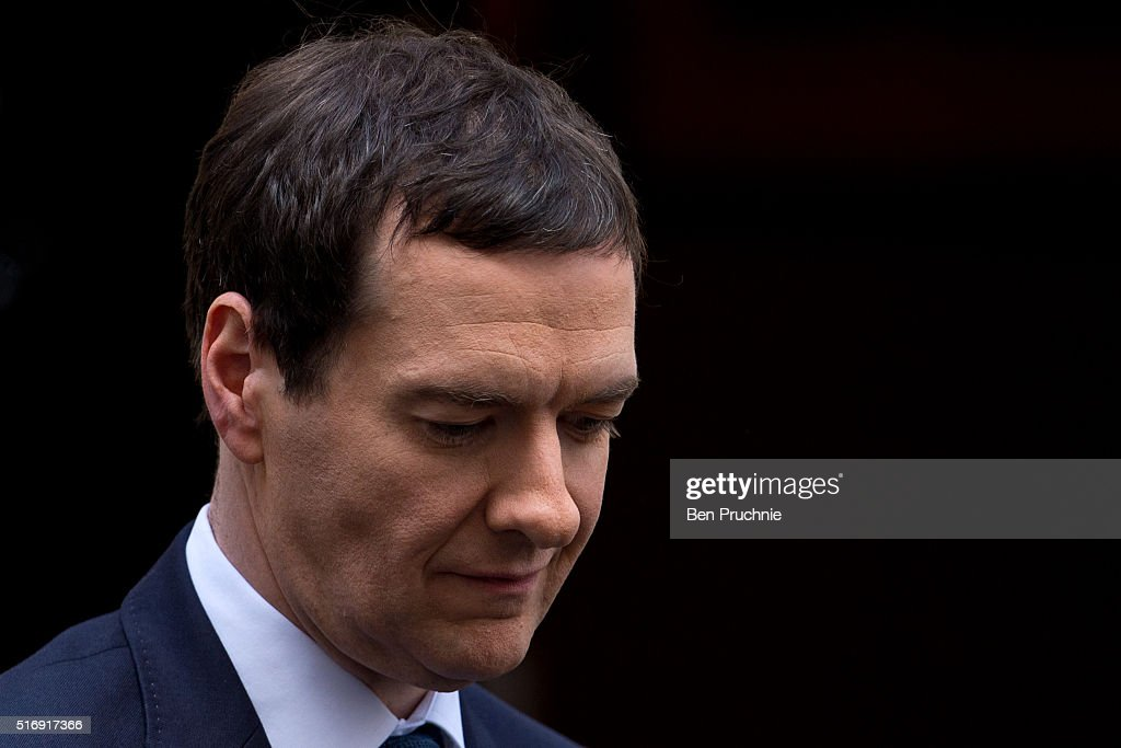 George Osborne Leaves Downing Street Ahead Of The Budget Vote