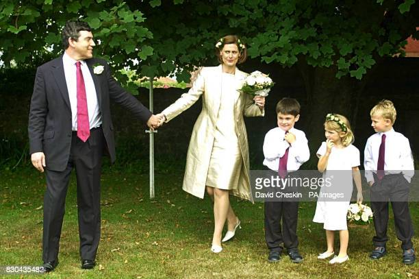 Chancellor Gordon Brown and his wife PR executive Sarah Macaulay after their wedding in a small private ceremony held at his home in North...