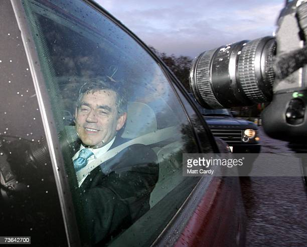 Chancellor Gordon Brown arrives at Buckingham Palace to deliever his budget to the Queen on March 20 2007 in London Tomorrow Mr Brown will present...