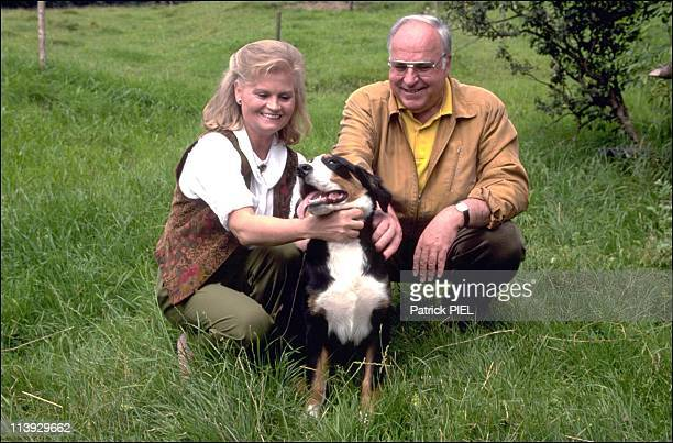 Chancellor Helmut Kohl and wife Hannelore on holidays in Sankt Gilgen Austria on August 09 1991