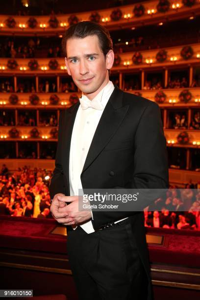 Chancellor of Austria Sebastian Kurz during the Opera Ball Vienna at Vienna State Opera on February 8 2018 in Vienna Austria