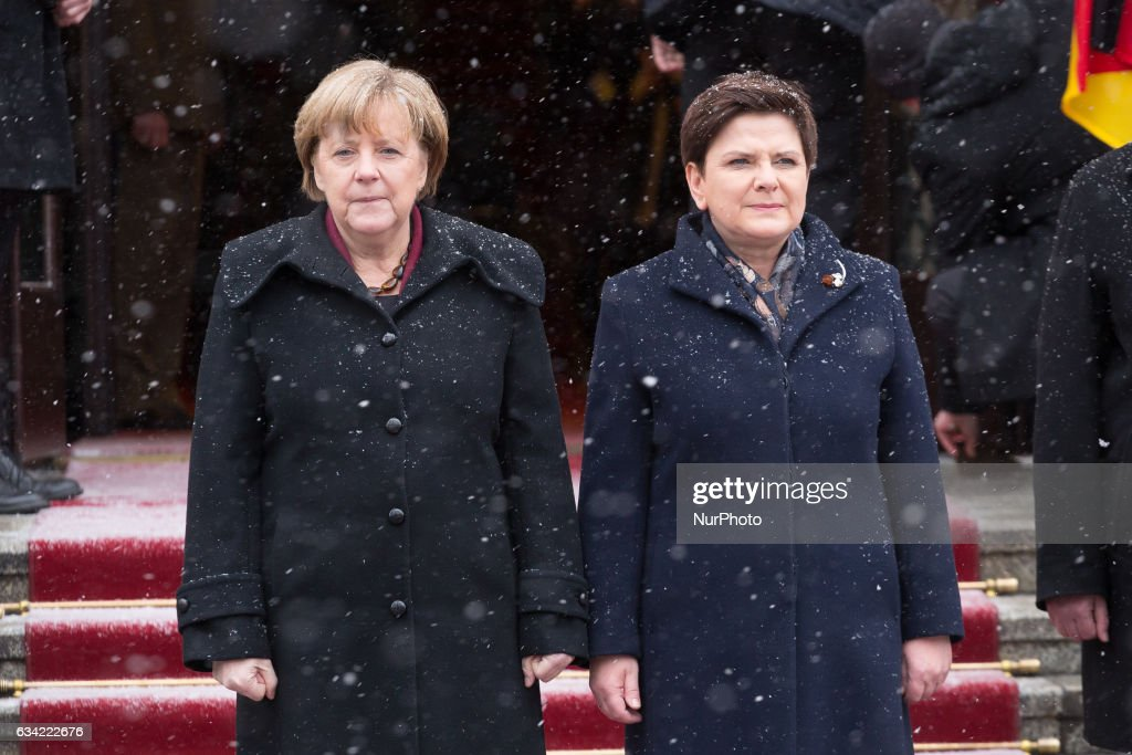 Chancellor of Germany Angela Merkel and Prime Minister of Poland