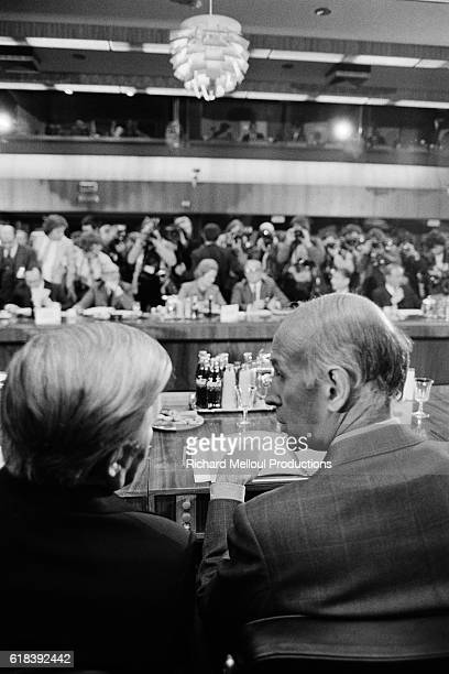 Chancellor of Germany Helmut Schmidt and French President Valéry Giscard d'Estaing during a meeting of the European Council in Luxembourg