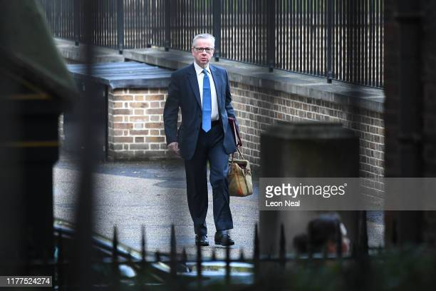 Chancellor of the Duchy of Lancaster Michael Gove arrives in Downing Street on October 22, 2019 in London, England. Prime Minister Boris Johnson...