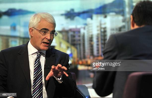 Chancellor of the Exchequer Alistair Darling appearing on The Politics Show