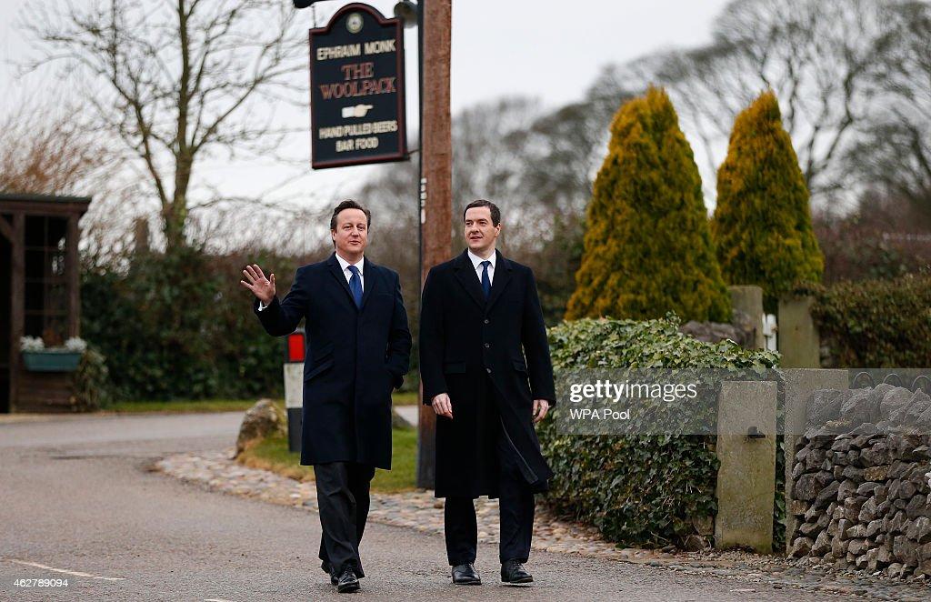 David Cameron And George Osborne Visit The North Of England : News Photo