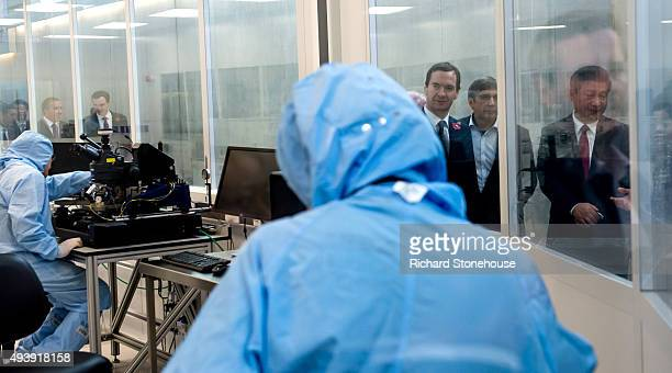 Chancellor of the Exchequer George Osborne and the President of the People's Republic of China Mr Xi Jinping are given a tour of the National...