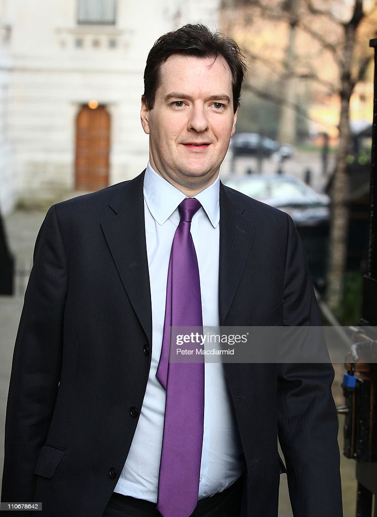 The Chancellor George Osborne Prepares To Give His Budget To Parliament : News Photo