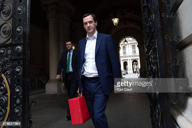 Chancellor of the Exchequer George Osborne arrives in Downing Street as an emergency security meeting is held following the deadly attacks on...