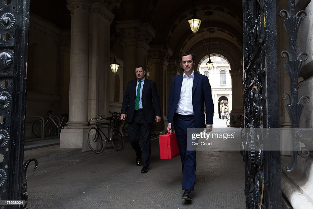 Chancellor of the Exchequer George Osborne arrives in Downing Street as an emergency security meeting is held following the deadly attacks on tourists in Tunisia, on June 26, 2015 in London, England. Around 37 people, mainly foreign tourists, are believed to have been killed as gunmen launched an attack on a beach in the Tunisian resort of Sousse.