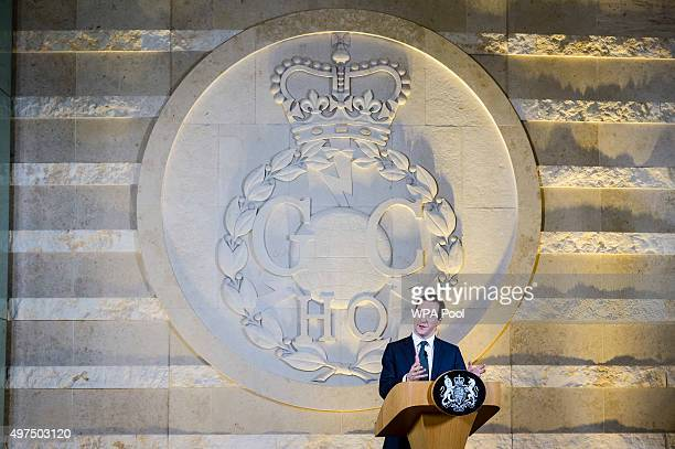 Chancellor of the Exchequer George Osborne delivers a speech on his spending review at GCHQ on November 17 2015 in Cheltenham England Chancellor...