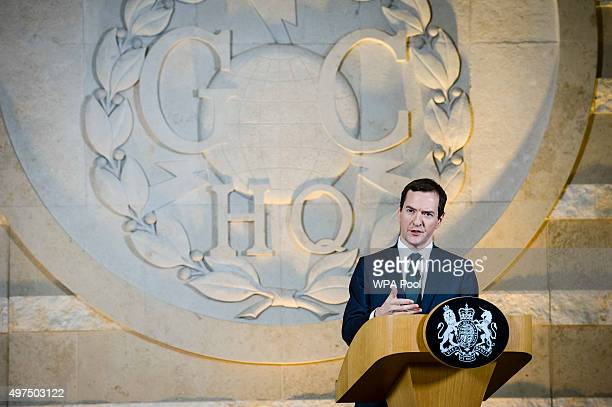 Chancellor of the Exchequer George Osborne delivers a speech on his spending review at GCHQ on November 17, 2015 in Cheltenham, England. Chancellor...