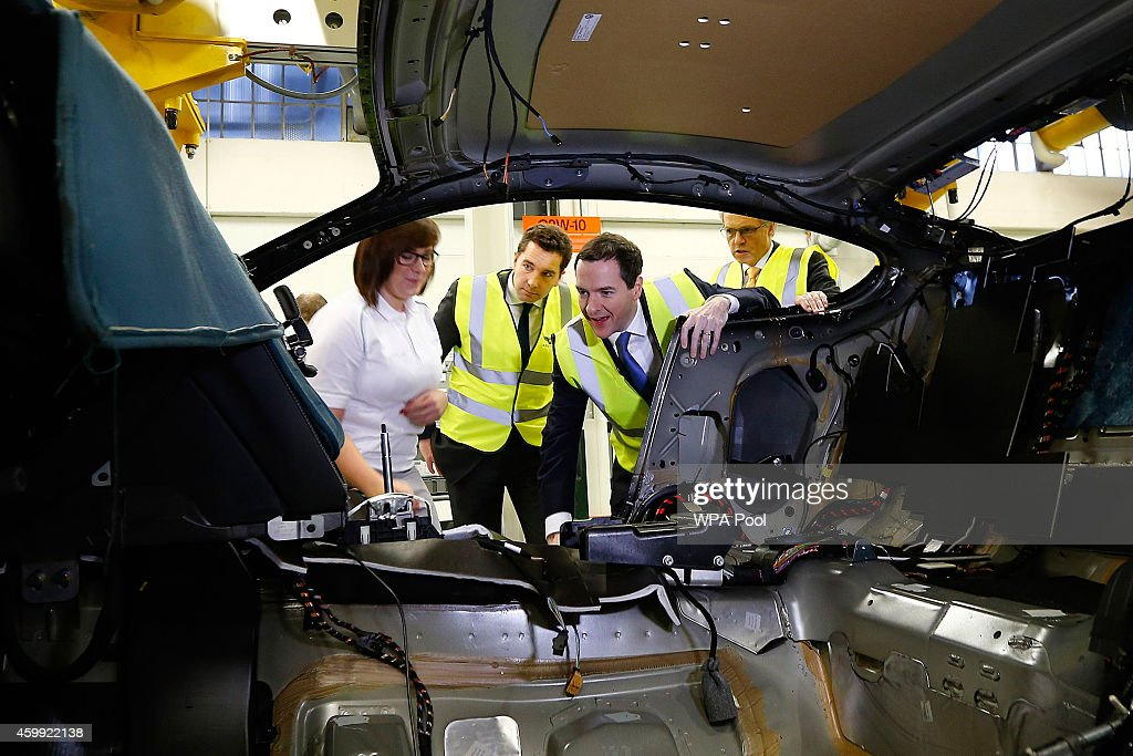 Chancellor George Osborne Visits Bentley Motors : News Photo